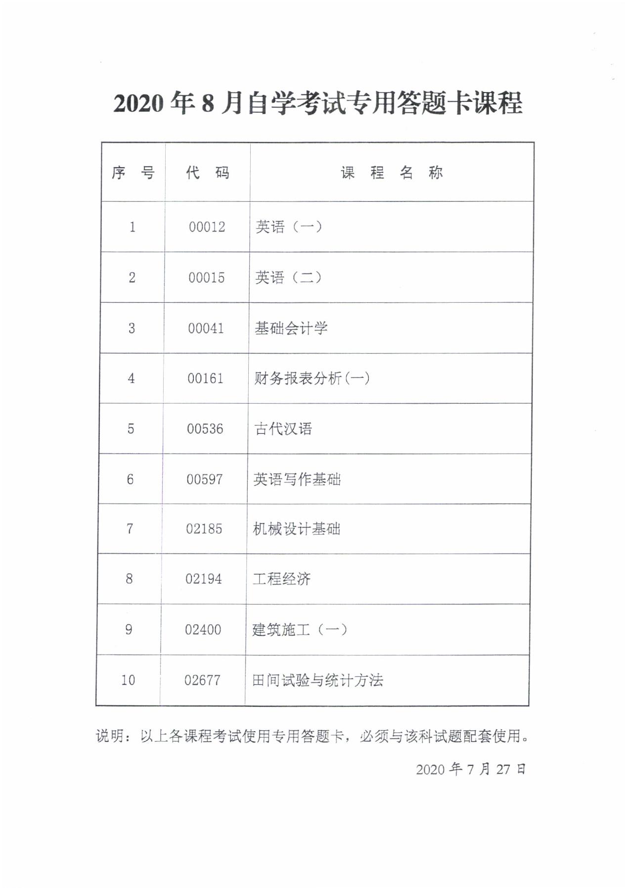 说明:C:\Users\KSZX\Documents\Tencent Files\363149121\FileRecv\2020年8月考试专用答题卡课程0001.jpg